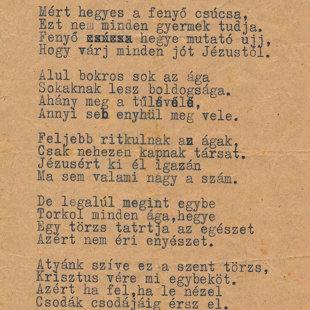 Gáncs Aladár egyik gyermekeknek írt verse