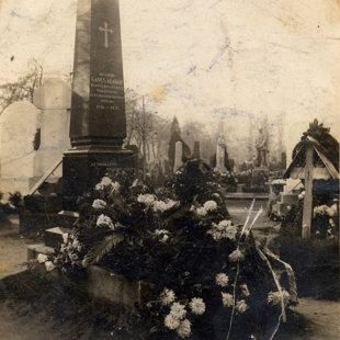 Gáncs Aladár egykori sírja a Kerepesi temetőben